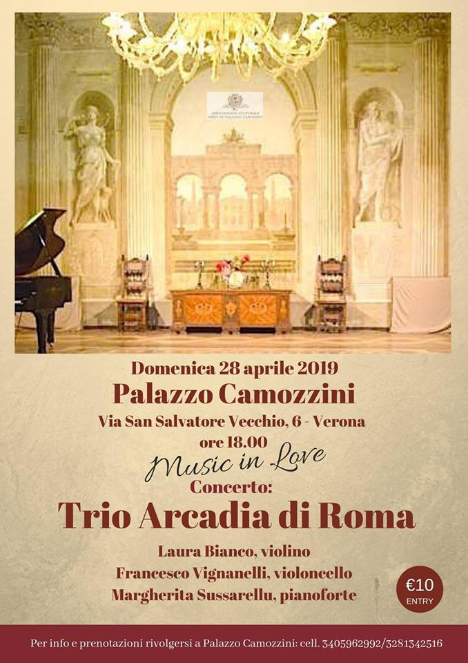 Poster for Verona concert, 28th April